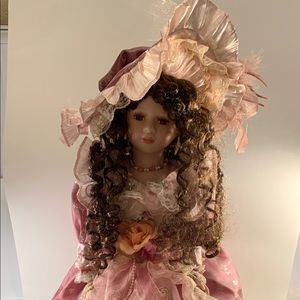 Umbrella Doll 24 inches Brown Hair and Brown Eyes